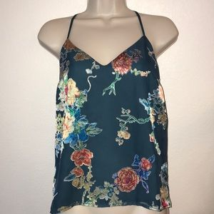 Socialite Tops - Pretty Floral Top with Adjustable back strap